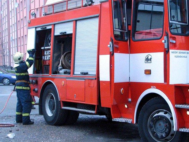 Hasiče zaměstnal ve čtvrtek požár kanceláře.