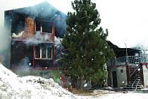 Požár Lesanky u Volduch.