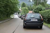 Dobřív zažil nápor řidičů mířících na Bahna.