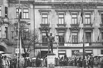Divíšek - tuto přezdívku vyfasovala od obyvatel Rokycan socha rudoarmějce...