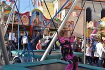 Malé i větší děti našly během oslav na náměstí řadu atrakcí
