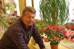 Milan Šollar s kaktusy.
