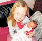 LAURA KRÁLOVÁz Rokycan se narodila se 7. února v Plzni na Lochotíně. Přišla na svět ráno, po šesté hodině. Sestřičky malé Lauře naměřily 48 cm a navážily 3220 gramů. Tatínek Michal byl u porodu ženě Veronice oporou. Na sestřičku se těšila Sofinka.