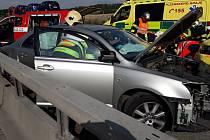 Vážná nehoda na dálnici.