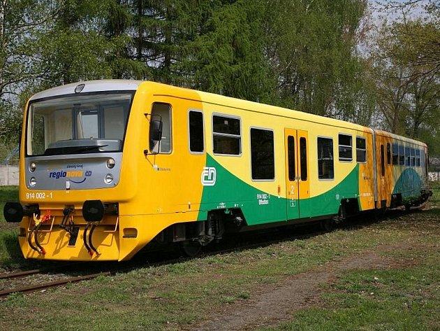 Od 13. prosince by měly na trase Rokycany – Nezvěstice vyjet dvě nové moderní soupravy Regionovy (na snímku).  Projekt připravil Plzeňský kraj ve spolupráci s Českými drahami, a.s.