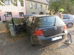 Dopravní nehoda v Mýtě na Rokycansku.