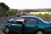 U sjezdu z dálnice u Rokycan se střetla dvě osobní auta. Nehoda si vyžádala čtyři zraněné.