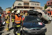 Hned po rokycanském týmu nastoupili hasiči a záchranáři z Hradce Králové.