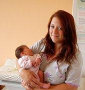 ISABELL KLIKOVÁ z Prašného Újezdu se narodila 18. září ve 23 hodin a 24 minut. Manželé Veronika a Petr už mají doma prvorozenou dceru Viktorku (3 roky) a věděli, že i druhé dítě bude holčička. Malé Isabell naměřily sestřičky 49 cm, navážily 3200 gramů.