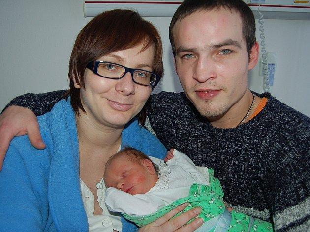 Lukáš Zeman z Mirošova se narodil 15. ledna v 19.59. Tatínek Lukáš s přítelkyní Stáňou věděli, že jejich prvním potomkem bude chlapeček. Měřil 51 cm a vážil 3250 gramů.