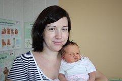 ŠARLOTA NATHANSKÁ z Plzně se narodila 14. ledna ve 2.50 hodin. Maminka Michaela a manžel Daniel se nechali pohlavím miminka překvapit až na porodní sál. Šarlotka přišla na svět s mírami 3640 gramů a 49 centimetrů. Doma se těší bráška Daniel.