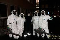 Mlžná dezinfekce areálu rokycanské nemocnice