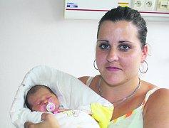 Natálie VÁCLAVÍKOVÁ z Rokycan se narodila 11. července v 16 hodin a 35 minut. Maminka Tereza a tatínek Lukáš věděli, že jejich první dítě bude holčička. Natálka přišla na svět s mírami 2880 gramů a 49 cm.