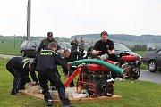 Štítovští dobrovolní hasiči v pondělí po poledni uspořádali soutěž v požárním sportu, který se týkal okrsku č. 3.