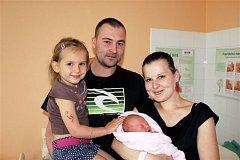 Tereza PÁTKOVÁ z Rokycan bude mít ve svém rodném listu datum narození 15. května. Přišla na svět ve 21.55 hodin. Manželé Lenka a Martin věděli dopředu, že to bude holčička. Na sestřičku se těšila Kateřina (3). Terezka vážila 2570 g a měřila 47 cm.