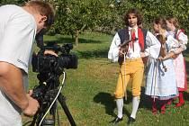 Štáb televize natáčel se Sluníčkem v Nevidě.