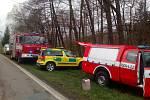 Záchranné složky na místě nehody