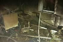 Požár RD v Bušovicích