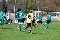 FC Rokycany porazil ve střetnutí krajského přeboru Lhotu těsně 2:1.