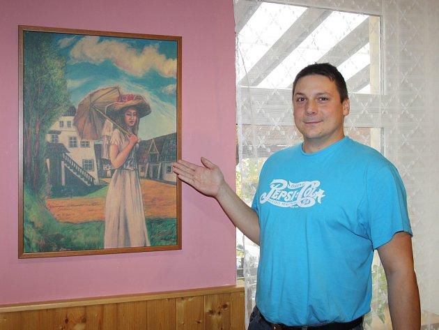 OBRAZ KARLA GOTTA visí v Restauraci ve Svaťáku. Martin Veselý, který si prostory pronajal, jej zde vystavuje. Mistr Gott obraz věnoval místním občanům.