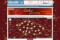 Ucelený přehled míst přináší internetové stránky www.denik.cz/cesko-zpiva-koledy/