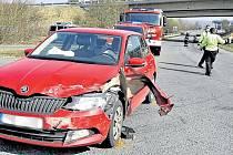 Páteční dopravní nehoda u Ejpovic