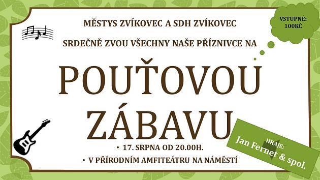 Na pouťový program láká v sobotu Zvíkovec