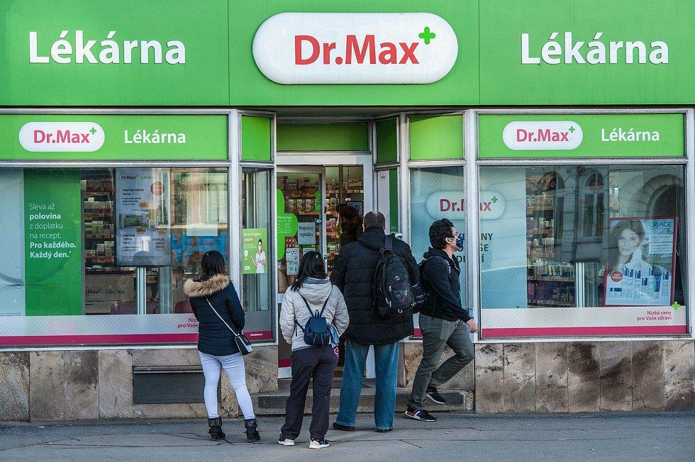Lékárna na Americké třídě v Plzni.