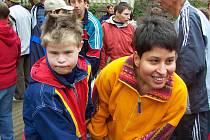 Obyvatelé ústavu sociální péče ve Zvíkovci oslavovali Den dětí.