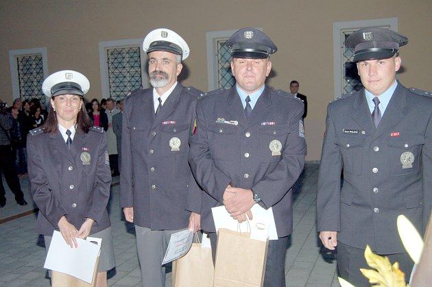 Ocenění policisté.
