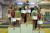 Z krajské soutěže gymnastek se s prvními místy vrátily Terezka Štancová a Anička Weisová, s druhými Katka Motlová,  Terezka  Příhodová  a  Saša  Planetová,  se  třetím  Julinka  Balounová a Kristýnka Svobodová.