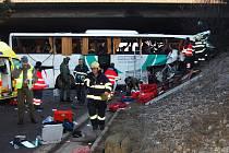Nehoda autobusu v dubnu 2013.