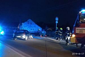 Noční nehoda v Mirošově