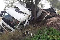 Nehoda kamionu u Příkosic.