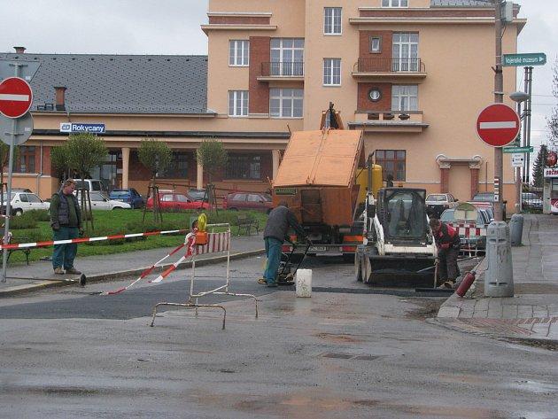 Výměna plynového potrubí v Rokycanech