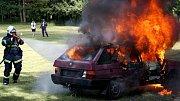 Největší úspěch sklidil profesionální zásah, při kterém likvidovali požár osobního auta.