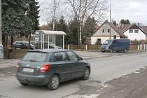 Budoucí přechod u zastávky autobusu