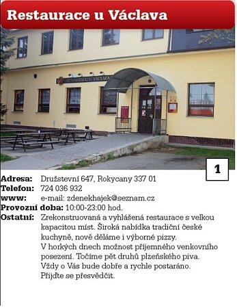 1 Restaurace uVáclava