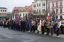 Oslavy Dne veteránů na rokycanském náměstí