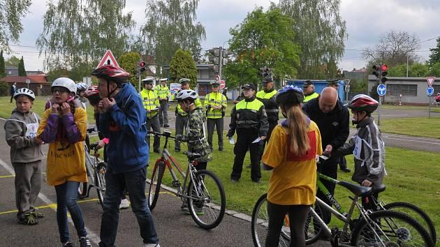 Na dění v okresmím městě dohlížel početný zástup policistů, kterým žádný prohřešek v provozu neunikl.