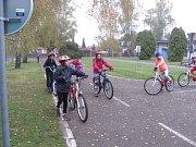 Děti si užily dopravní hřiště v Rokycanech.