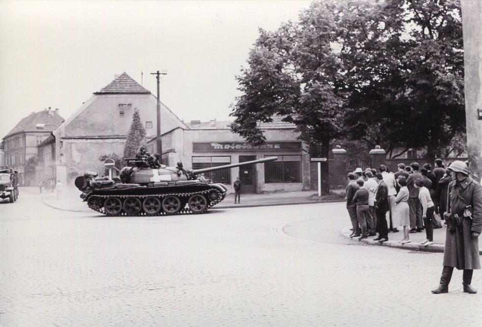Křižovatka u Střelnice.
