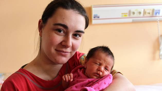 AMÁLKA ŠIMKOVÁ z Volduch přišla na svět 14. února ve 12 hodin a 39 minut. Maminka Adéla a tatínek Fanda věděli dopředu, že jim k pětileté dceři Elišce přibude druhá slečna. Malá Amálka vážila při narození 2520 gramů, měřila 44 cm.