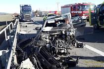 Nehoda na dálnici D5.