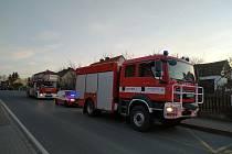 Výjezd hasičů k požáru na Břasích