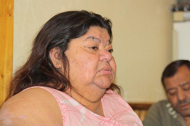 Bývalá romská zpěvačka Věra Bílá.