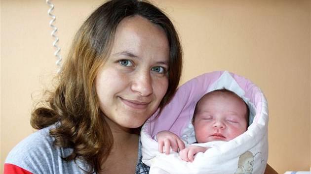 Kateřina DOBIÁŠOVÁ z Číčova si pro svůj příchod na svět vybrala datum 17. dubna. Narodila se ve tři čtvrtě na čtyři ráno. Maminka Lucie a tatínek Václav znali pohlaví miminka dopředu. Na sestřičku těší Filípek (3 roky). Váha 3910 g, 52 cm.