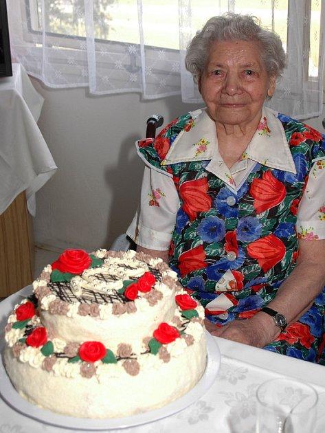 Jediným sto a víceletým člověkem na Rokycansku je momentálně Anastázie Plesková.