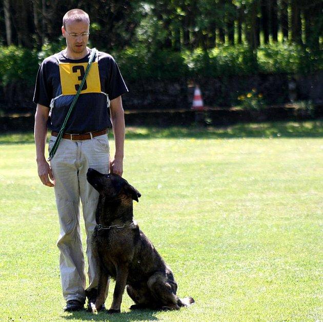 Tomáš Rupert  s německým ovčákem Muki z Milberku ze ZKO Litoměřice vybojoval zlatou příčku.