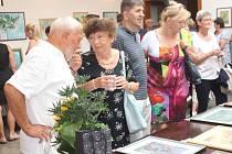 Vernisáž výstavy Aleše Sedláčka v Rokycanech